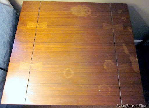 Trashtastic Tuesday How To Remove Water Stains From Wood Sweet Parrish Place