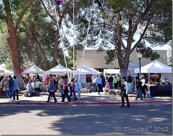 Vendor's booths at Gold Rush Days Wickenburg Arizona