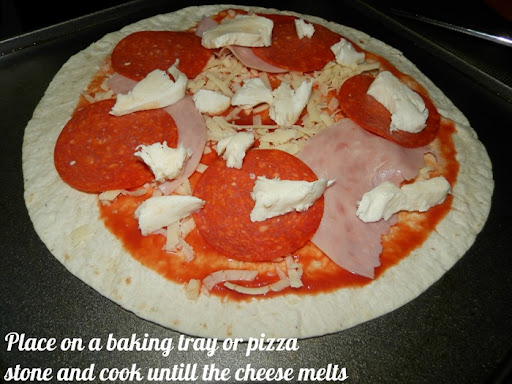 Healthy tortilla pizza recipe