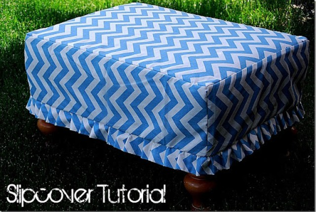 Chevron Slipcover Tutorial