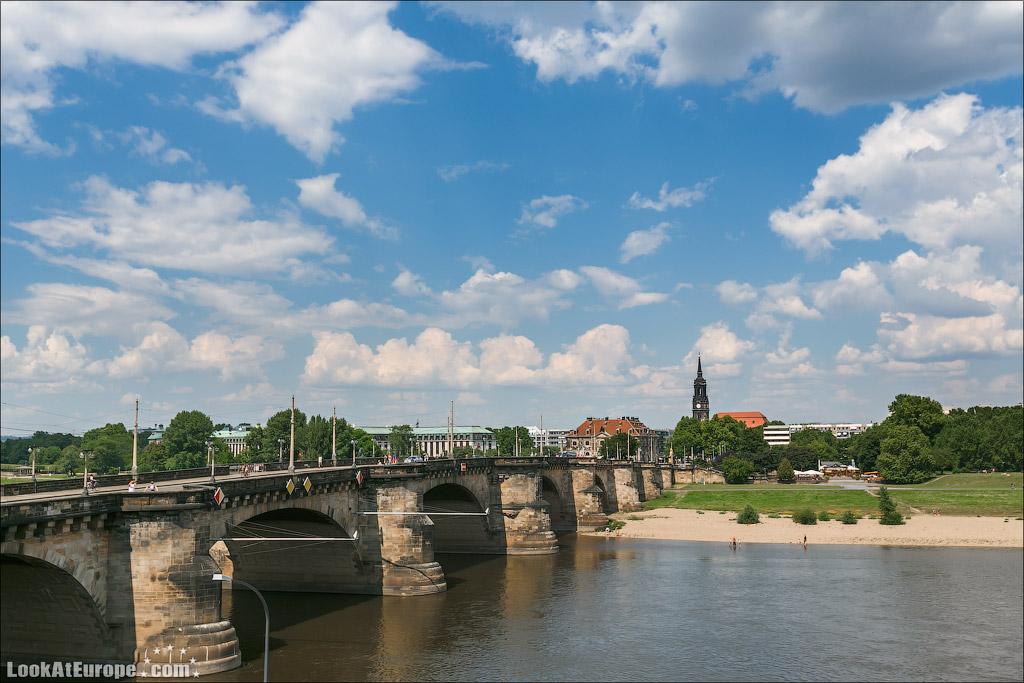 Дрезден. Мост Августа