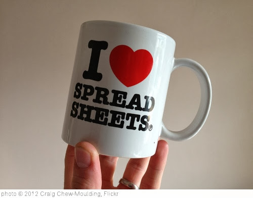 'I Love Spreadsheets' photo (c) 2012, Craig Chew-Moulding - license: http://creativecommons.org/licenses/by-sa/2.0/