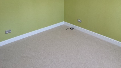 Carpet laid (lucky carpet!)