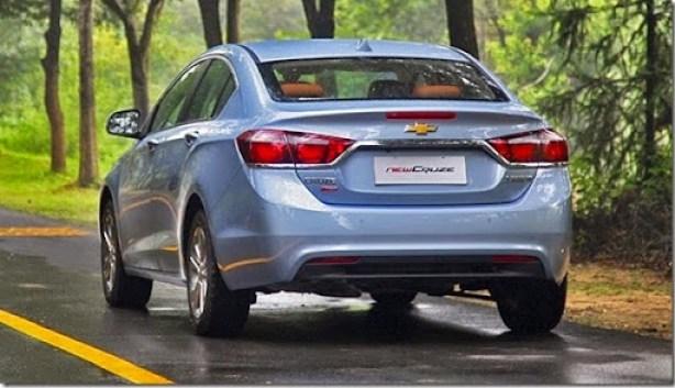 Chevrolet Cruze 2015 Vista Trasera