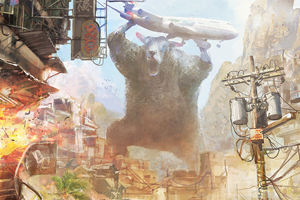 Sheep Destroying a City in Photoshop