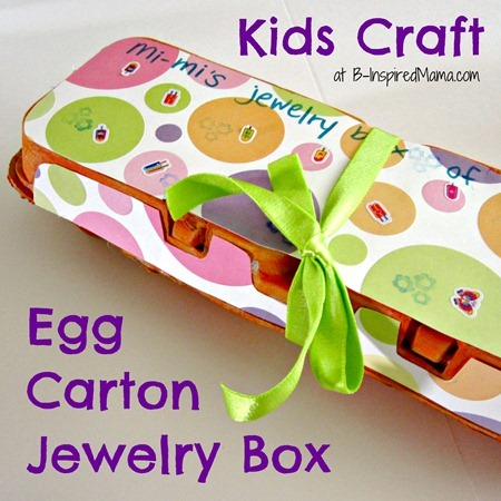Egg Carton Jewelry Box Kids Craft at B-Inspired Mama