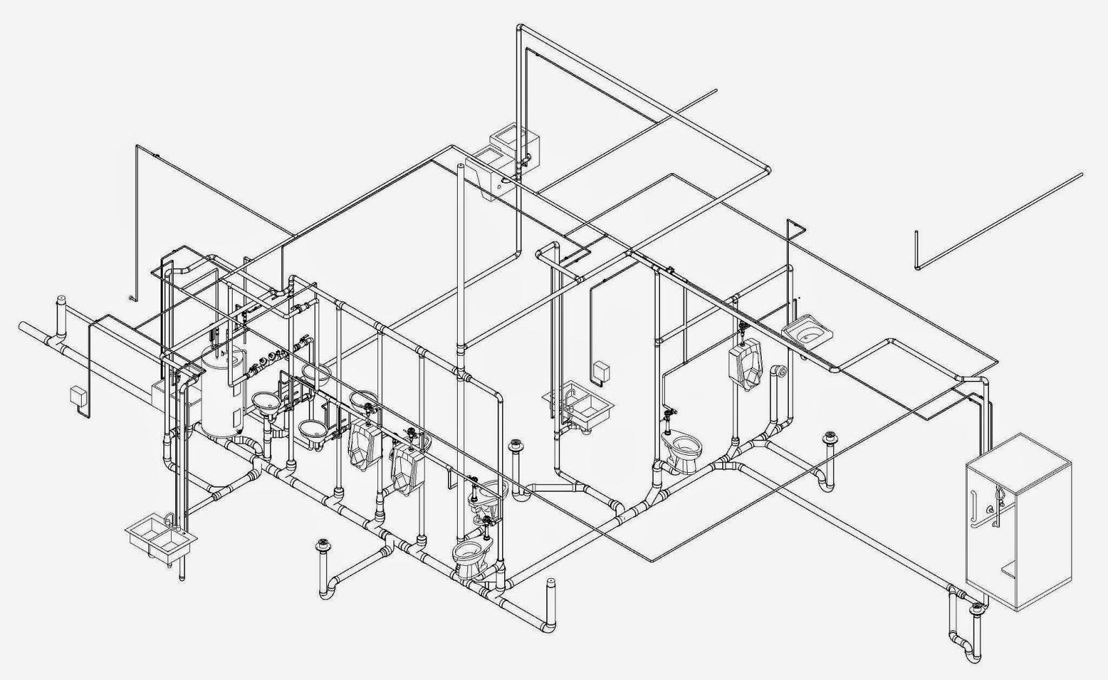 Isometric Drawing Plumbing
