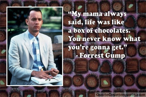 Image result for forrest gump chocolate pictures