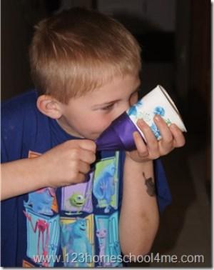 Marshmallow shooter kids activity summer form 123 Homeschool 4 Me