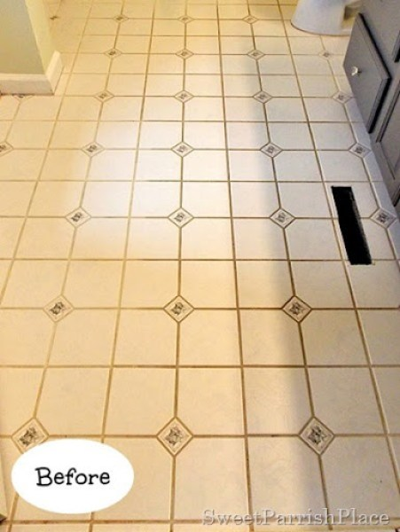 Bathroom grout before