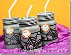 Spider Cider Jars Purple