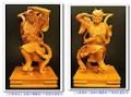 【千里眼及順風耳】天上聖母媽祖的兩大護衛將軍~梢楠木原木精雕一尺三~^O^~今天要和大家順便說聲端午佳節愉快歐!