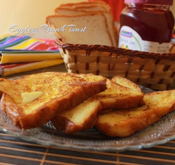 Eggless French Toast2