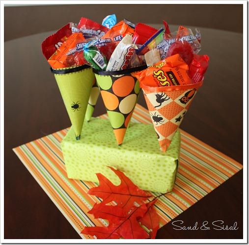 DIY Halloween Treat Cones