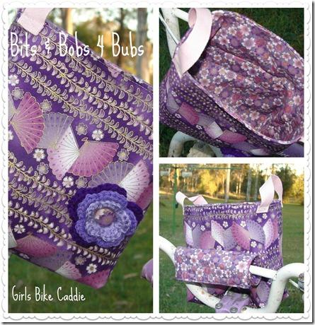 purple bike caddie Collage