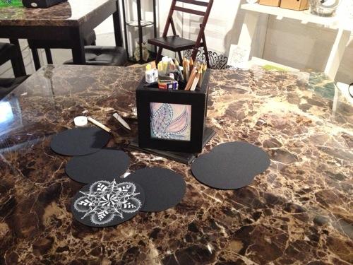 Black zendala table