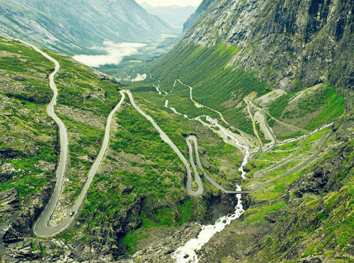 The Hair Raising Hairpin Bends on Trollstigen Road in ...