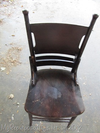 refinish a chair