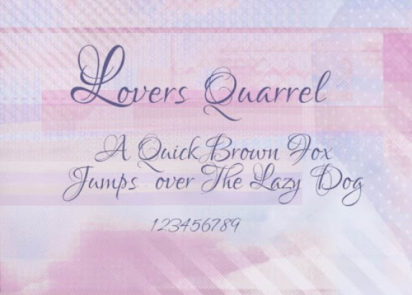 Lovers Quarrel Wedding Font