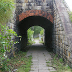 A passage under old railroad.