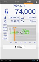 تطبيق عد الخطوات والمسافة والسعرات الحرارية للأندرويد Pedometer -6