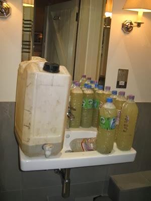Hotel mustard solution station