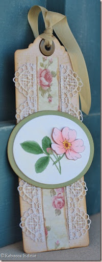 wild rose bookmark
