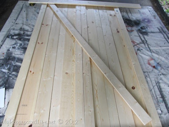 diy barn doors cross brace