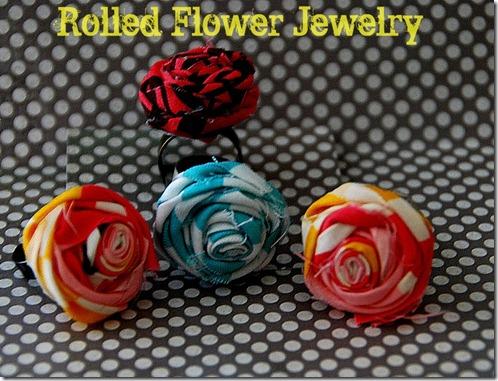 rolled flower jewelry tutorial