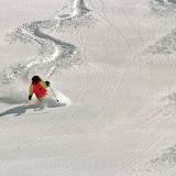 Vibe is doing tracks in Meribel on Mont Vallon...