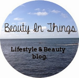 beauty in things blog button advert
