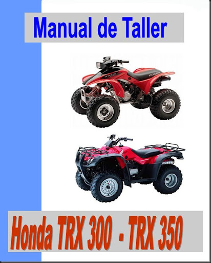 manual taller honda trx 300 trx 350