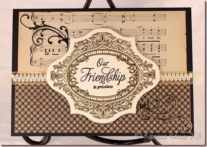 elegant friendship card