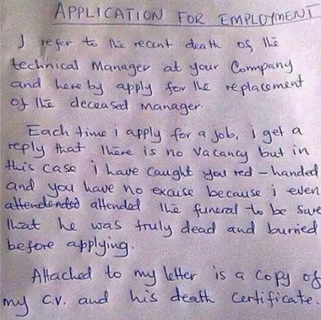 how to ask for the status of a job application