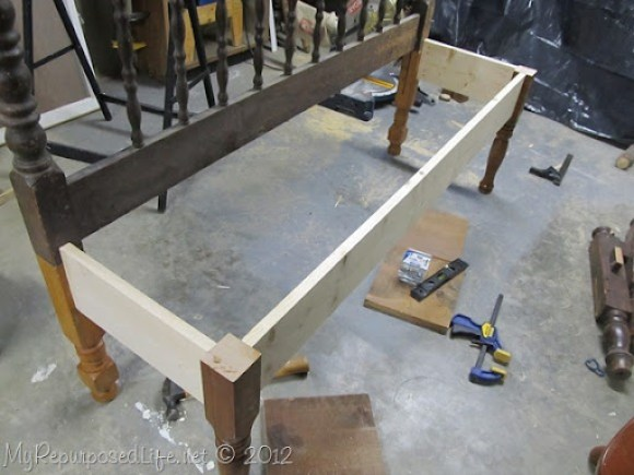 headboard bench frame