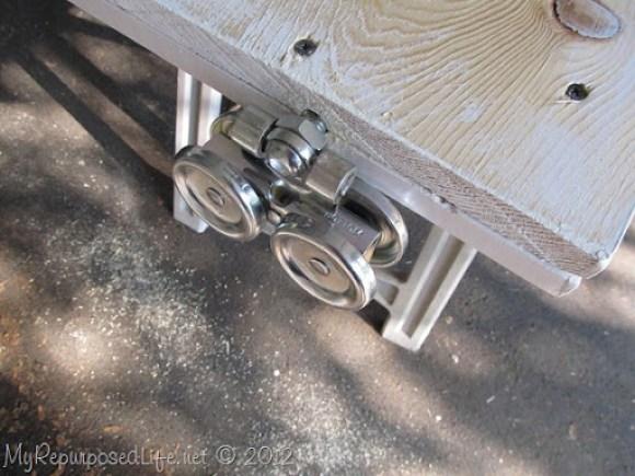 Installing door Hardware (barn door) (3)