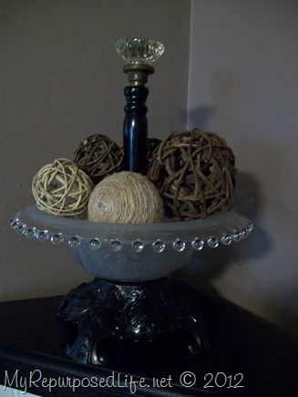 lamp parts make a decorative bowl