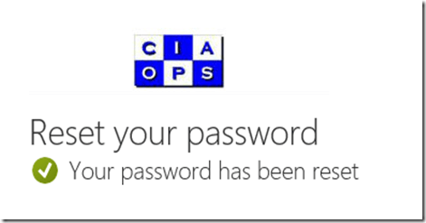 Enabling Self Service Password Resets in Office 365 – CIAOPS
