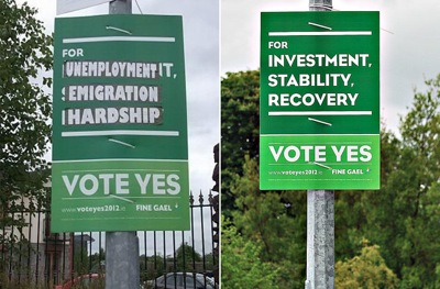 Ireland No Yes posters