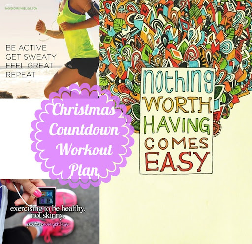 100 days till christmas countdown exercise and workout plan