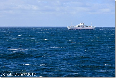 We crossed to Prince Edward Island on a ferry just like this