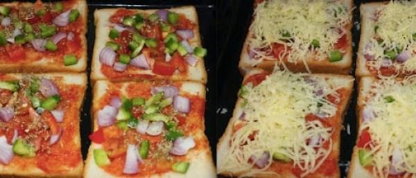 Bread pizza step2