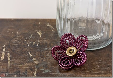 french beaded flower brooch tutorial
