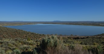 Flagstaff Lake from the road to Hart Mountain