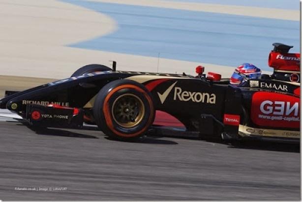 2014 F1 Pre Season Test 2 - Day 2Bahrain International Circuit, Bahrain.Thursday 20 February 2014.Romain Grosjean, Lotus E22 Renault.World Copyright: Glenn Dunbar/LAT Photographic.ref: Digital Image _89P2288