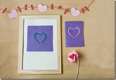 stiched paper heart