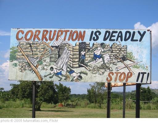 'Ugandan anti-corruption sign' photo (c) 2005, futureatlas.com - license: http://creativecommons.org/licenses/by/2.0/