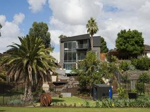 arquitectura casa fachada revestimiento de zinc