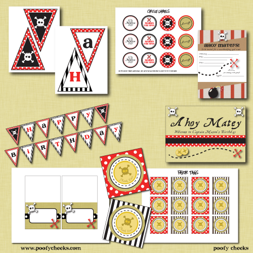 Pirate Party Inspiration and Printables