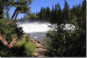 Kay at Cave Falls on the Falls River, Yellowstone NP
